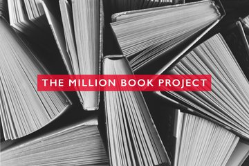 "books with text overlay ""Million Books Project"""