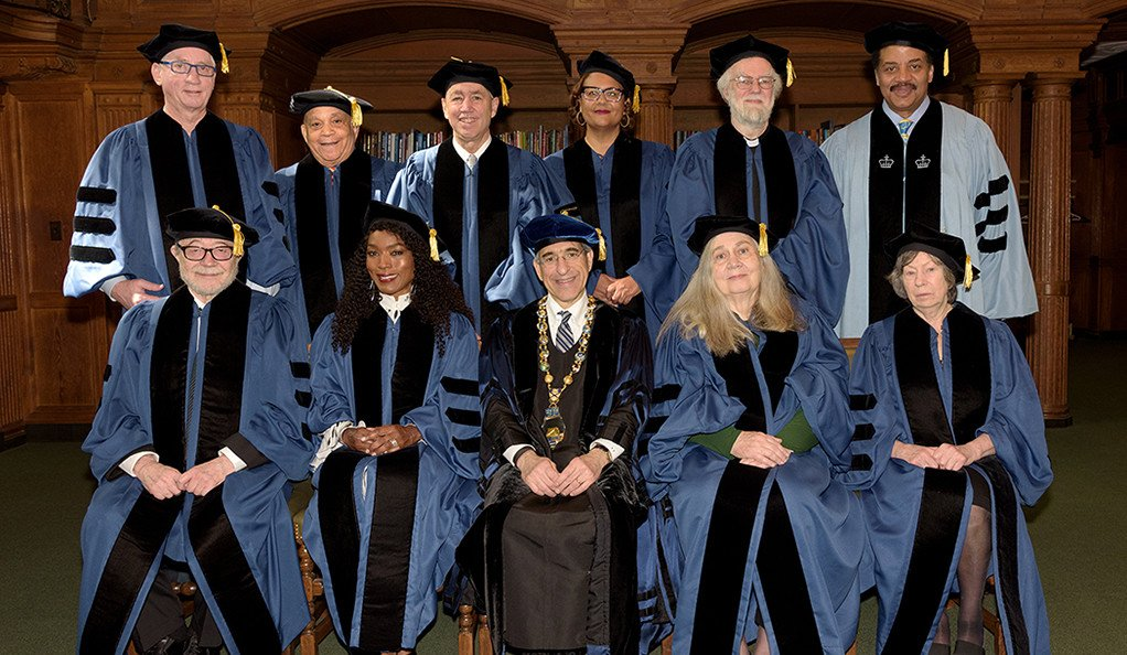 Ten individuals (including Mellon Foundation President Elizabeth Alexander, top row, fourth from the left) were awarded honorary degrees at Yale University's Commencement ceremony on May 21, 2018. Photo by Joy Bush.