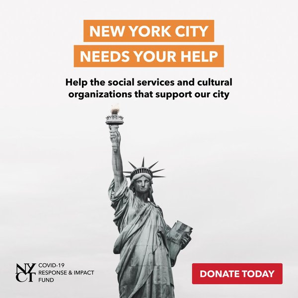 "Graphic that Says ""New York City Needs Your Help"""